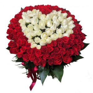 Queen of My Heart Roses Basket