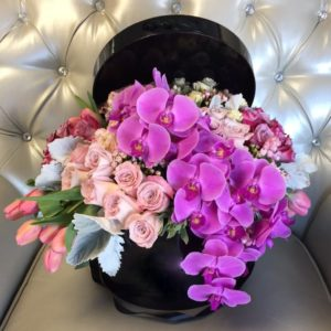 Vanda Orchids Hat Box
