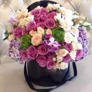 Luxurious Flower Hat Box