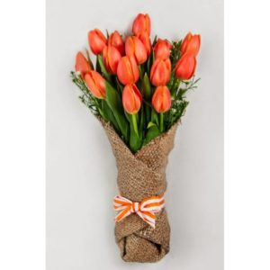 15 Orange Tulips Bouquet