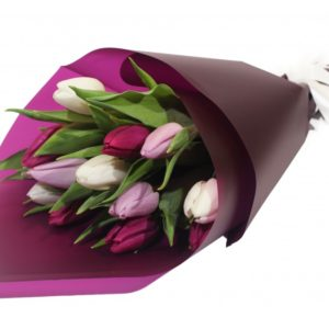 15 Mauve Tulips Bouquet