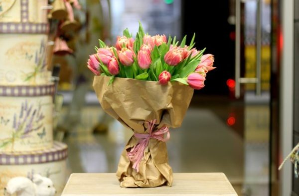 Lovely Spring Tulips Bouquet