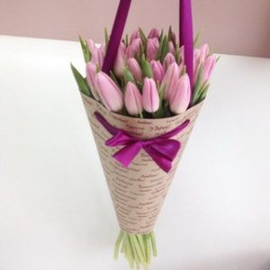21 Tulips Cone Bouquet