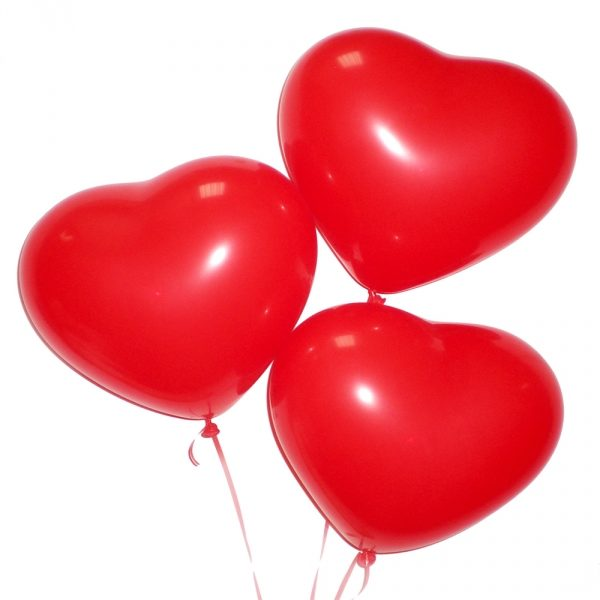 3 heart balloons gifts and flowers delivery in ukraine