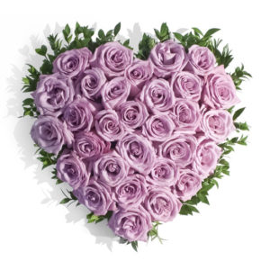 Enchanting Purple Roses Heart