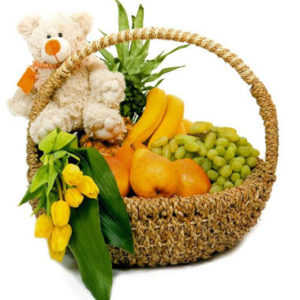 Fruity Floral Hugs Basket