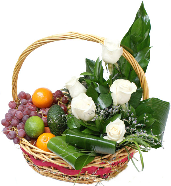 Pure Rosses and Fruit Basket
