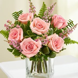 7 Pink Roses Bouquet