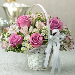 Delightful Purple Basket
