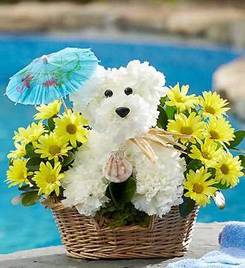 Cute Puppy Basket