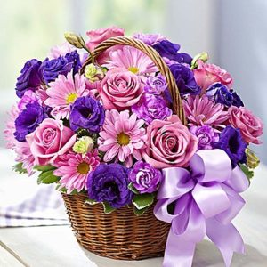 Fascinating Purple Basket