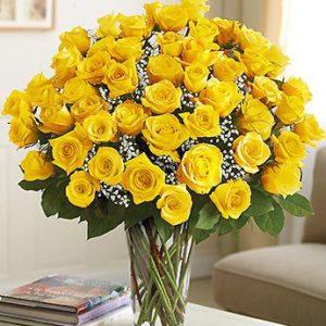 51 Yellow Roses Bouquet