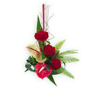 Anthurium and Roses Bouquet
