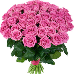 51 Pink Roses Bouquet