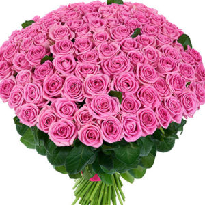 Affection 101 Pink Roses Bouquet