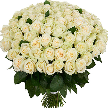 Devotion 101 White Roses Bouquet