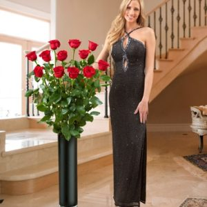 Stunning 11 Red Roses, 150 cm length
