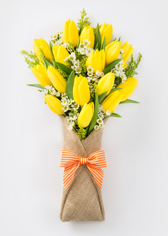 17 Yellow Tulips Bouquet - Gifts and Flowers Delivery in Ukraine