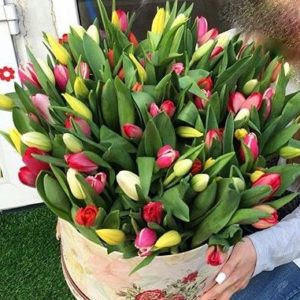 51 Tulips Hat Box