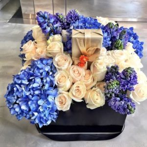 Exclusive Blue Flower Box
