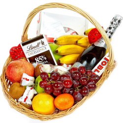 Asti and Fruit Basket