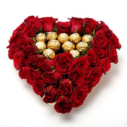 Ferrero and Roses Heart