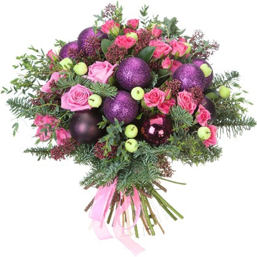 Purple Christmas Bouquet