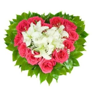 Lilies and Roses Heart