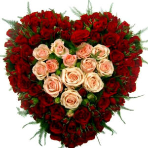 55 Spray Roses Heart