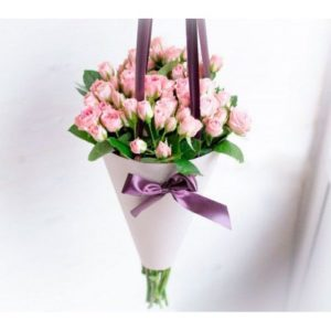 Pink Spray Roses Cone Bouquet